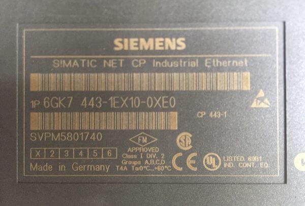Siemens Industrial Ethernet 6GK7 443-1EX10-0XE0
