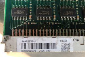 ABB – 8MB Memory Board Unit DSQC 323 / 3HAB5956-1