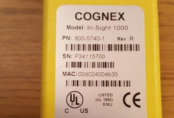 Cognex In-Sight 1000 Smart Camera