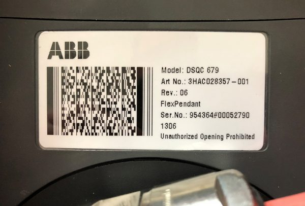 ABB DSQC679 Label with model numbers